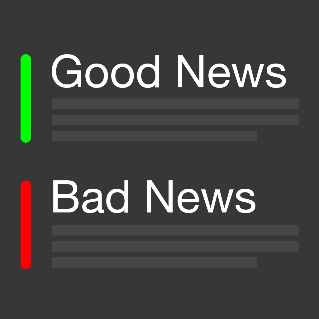 Good News Bad News - sentiment analysis of breaking news stories
